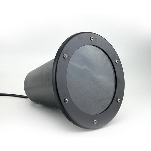 Luminária Embutir Solo P/Lâmpada Par 38 Sem Grade Preta-Real Lustre