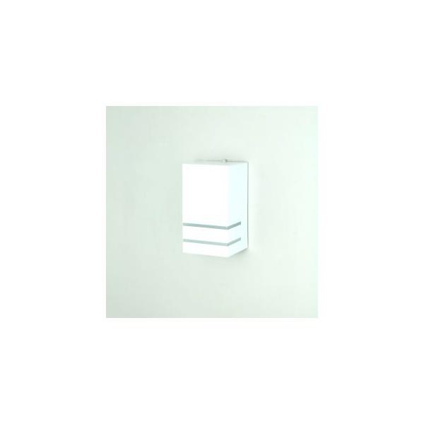 Arandela Fernandes 18x10x10cm Com Friso Pequeno Branca-Real Lustres