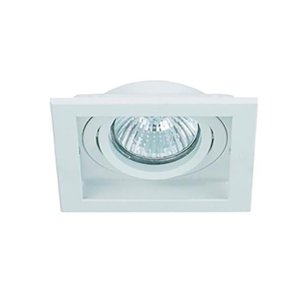 Spot Embutir Quadrado Conecta 1xpar20 Branco/Branco-Bella Iluminação