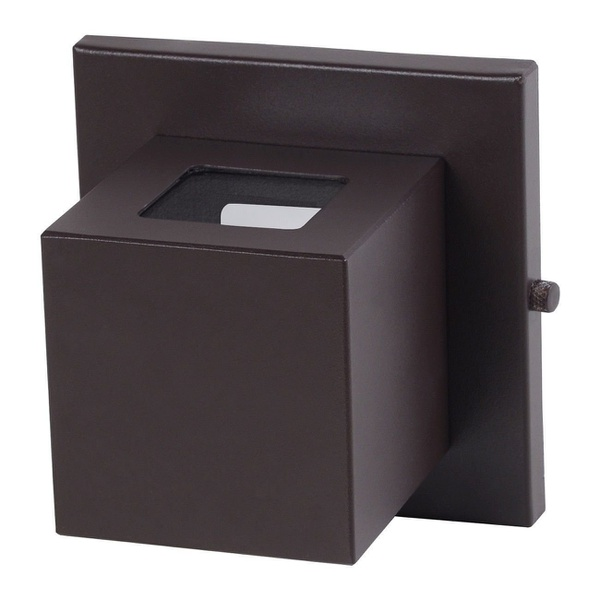 Arandela Box 2 Focos 7,5x7,5x7,5cm Com Vidro 307/22 Marrom-Real Lustre