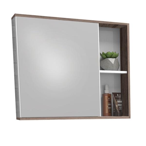 Espelheira Caeté MDF 60Cm Branca/Tamarindo-Cozimax