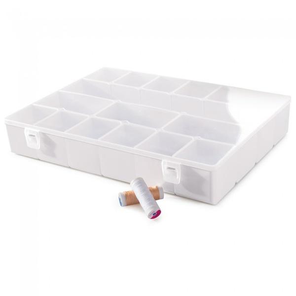 Caixa Duo com 16 Divisórias Branca-Plasútil