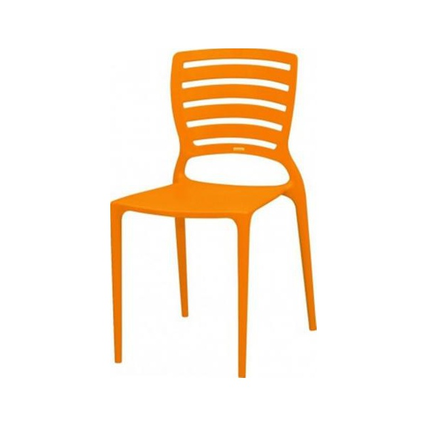 Cadeira Tramontina Sofia Laranja Encosto Vazado