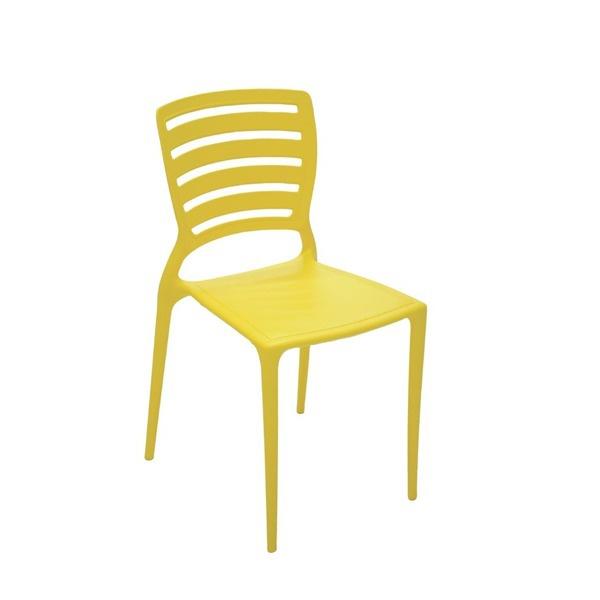 Cadeira Tramontina Sofia Amarela Encosto Vazado