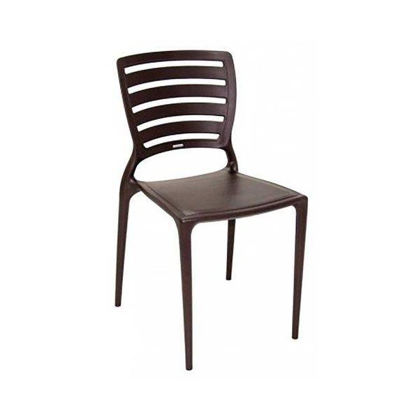 Cadeira Tramontina Sofia Marrom Encosto Vazado