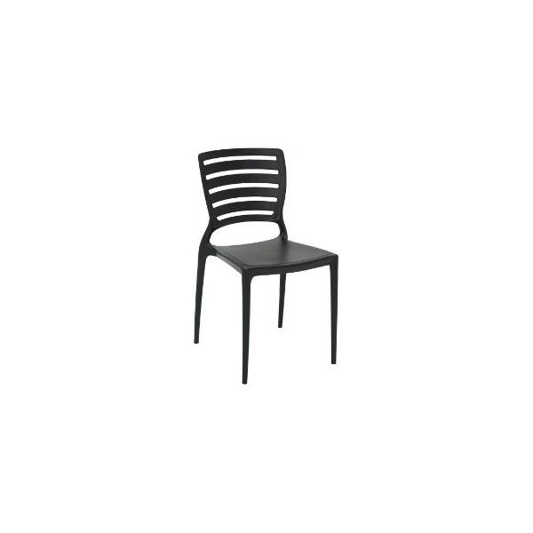 Cadeira Tramontina Sofia Preta Encosto Vazado