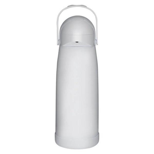 Garrafa Térmica Pressão Nobile Branca 1 Litro-Mor