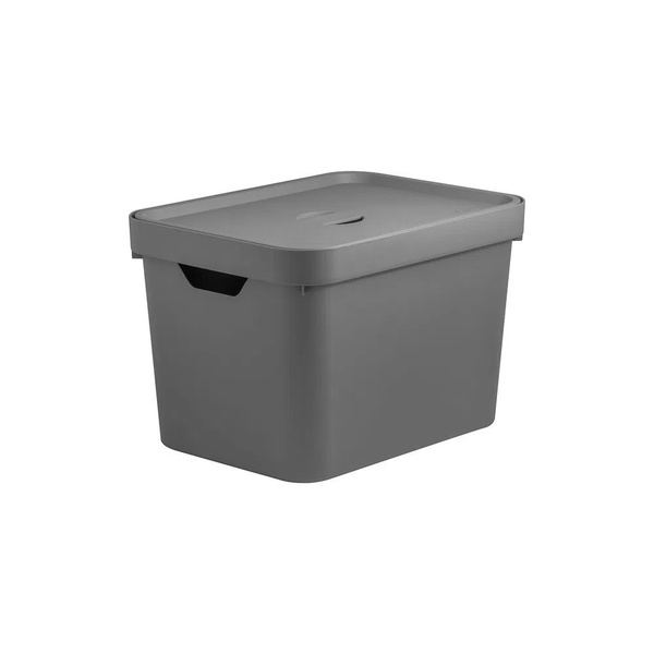 Caixa Organizadora Cube M 18 Litros Com Tampa-Martiplast