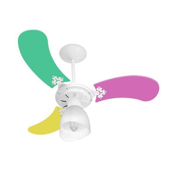 Ventilador De Teto Baby Colors 3 Pás 127v Feminino-Venti Delta