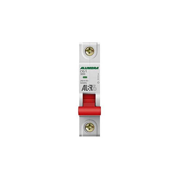 Disjuntor Din Unipolar Curva C 10A 39241-Alumbra