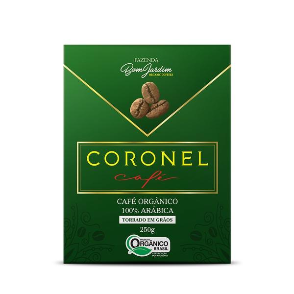 Coronel Café Orgânico Torrado em Grãos - 250g