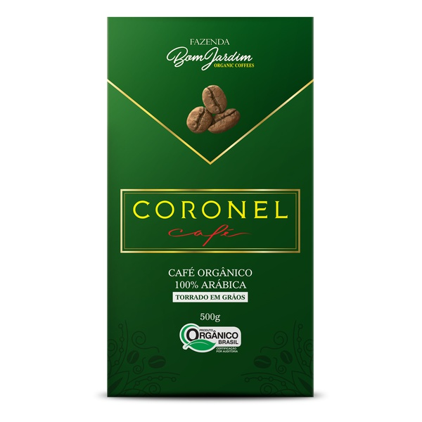 Coronel Café Orgânico Torrado em Grãos - 500g