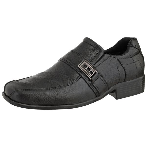 Sapato Social Masculino Em Couro Legitimo Preto