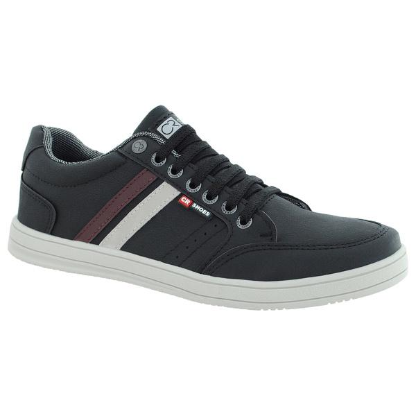 Sapatenis masculino casual CRshoes preto