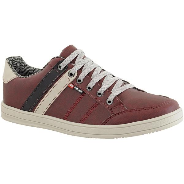 Sapatenis masculino casual CRshoes Vermelho e Preto