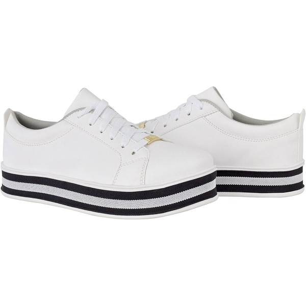 Tênis casual feminino CRshoes | Branco Solado Preta