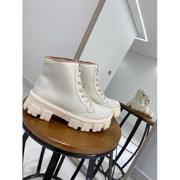 Coturno Feminino Tratorado Crshoes Off White