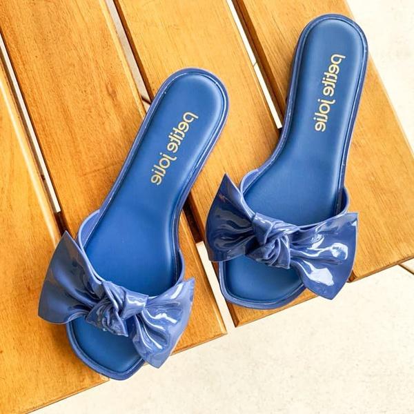 Rasteira Peite Jolie Azul