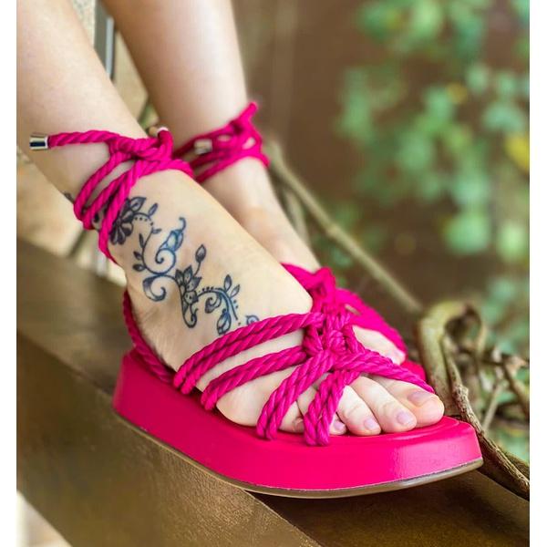 Flat Couro Pink Lialine