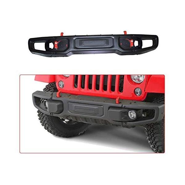 Parachoque Dianteiro Em Aço Com Base Para Guincho Jeep Wrangler Jk 2007 a 2018 - Modelo Rubicon