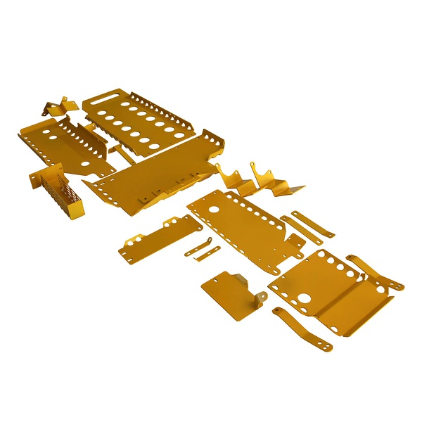 Kit De 8 Proteções Inferiores Para Novo Troller 2015 Em Diante - Amarelo