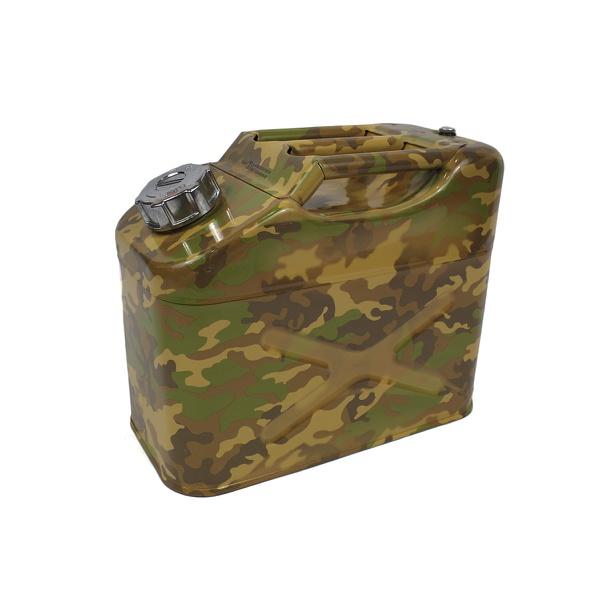Galão De 10 Litros Combustivel Metal Modelo Militar 9mm Camuflado