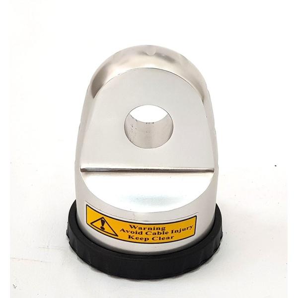 Gancho Para Cabo Sintetico Até 12mm De Guincho Eletrico Aluminio 55 - Cor Natural