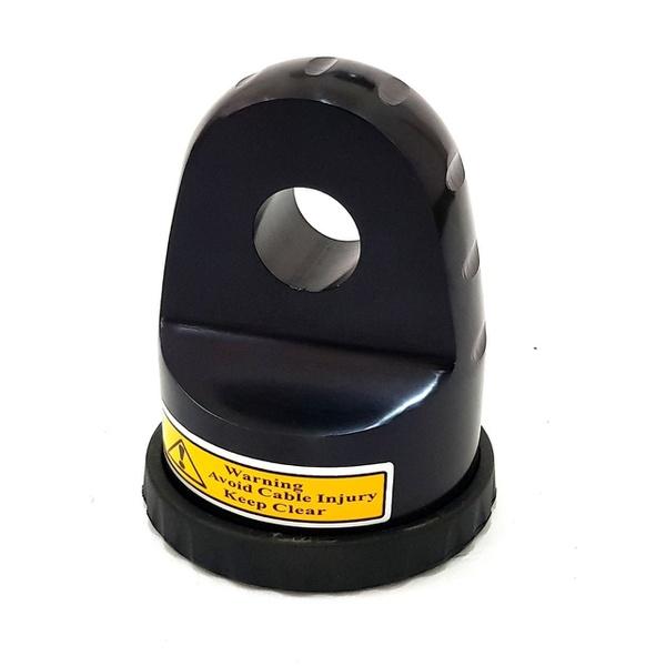 Gancho Para Cabo Sintetico Até 12mm De Guincho Eletrico Aluminio 55 - Cor Preta
