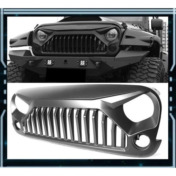 Grade Angry Bird Modelo Darth Vader Jeep Para Wrangler Jk - Preto Fosco