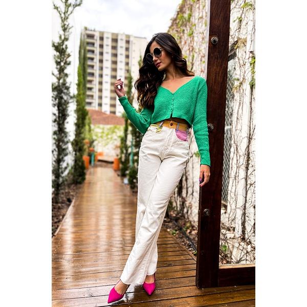 Calça wide leg collor alcance jeans