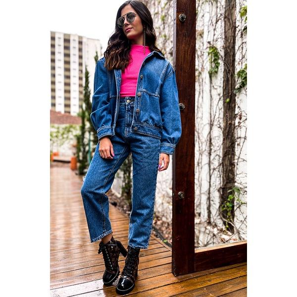 jaqueta jeans vida bela