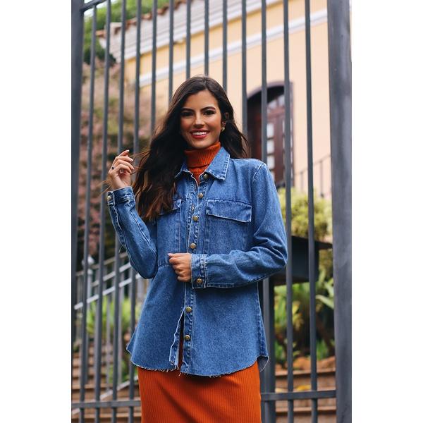 Camisa jeans bols alcance jeans