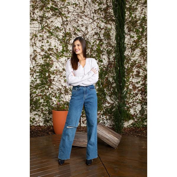Calça widi leg escuro alcance jeans