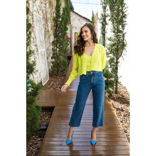 Calça jeans Cropped Alcance jeans