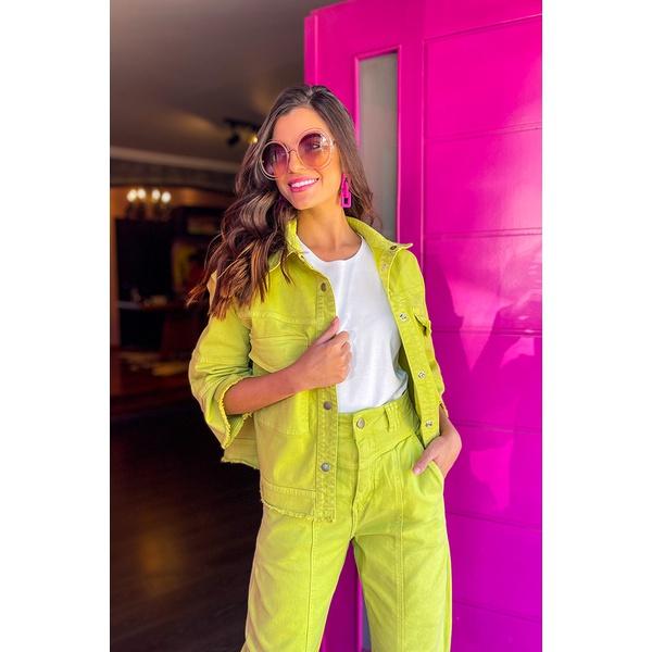 Camisa sarja verde Vida bela