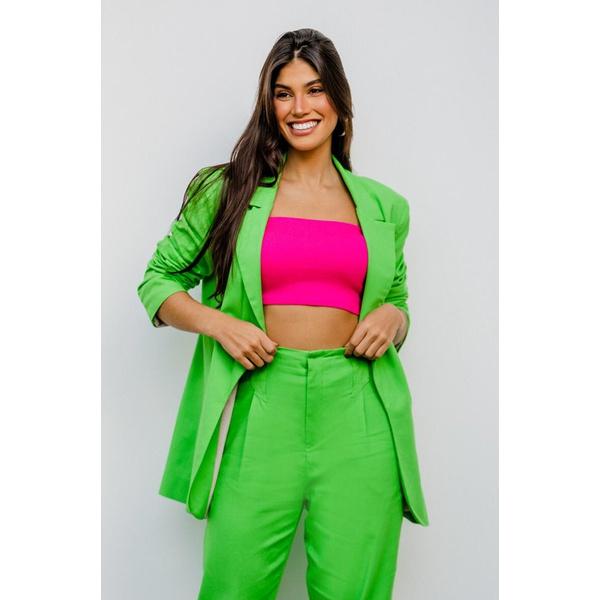 Blazer linho verde vida bela