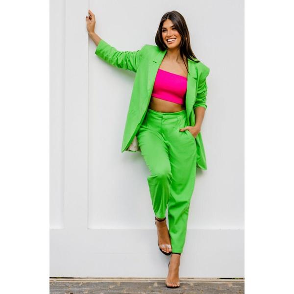 Calça linho verde vida bela