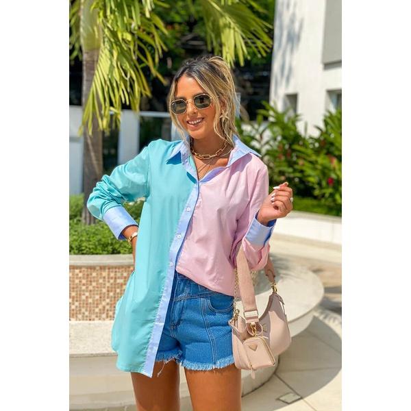 Camisa multi color vida bela