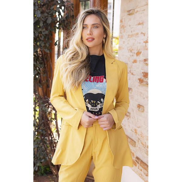 Blazer Alfaiataria Amarelo