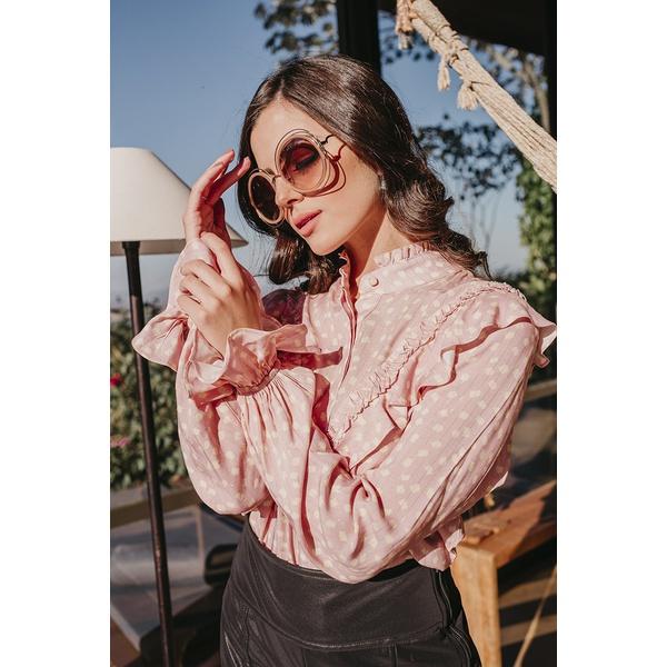 Camisa Pincel Rosa