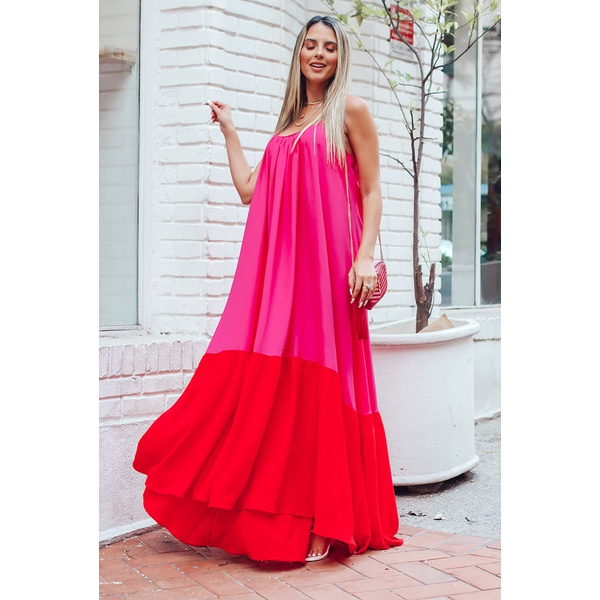 Vestido Thereza Rosa