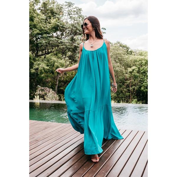 Vestido D'Boneca Thereza Azul