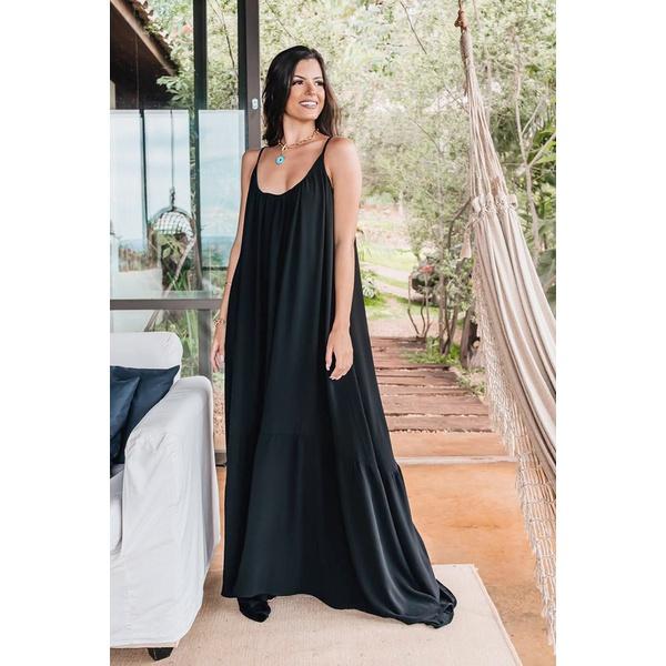 Vestido D'Boneca Thereza Preto