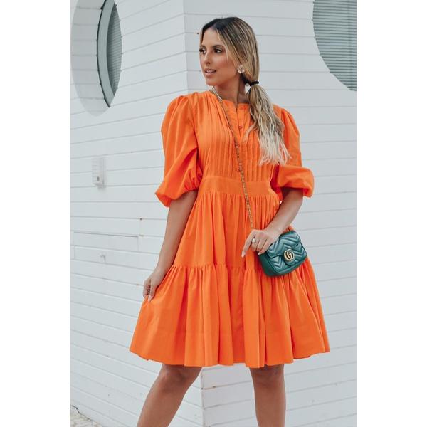 Vestido Graciliana Laranja