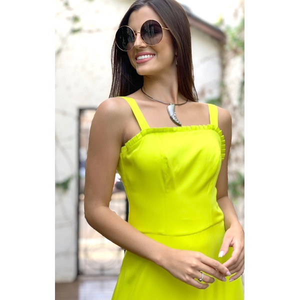 Vestido Amarelo Neon