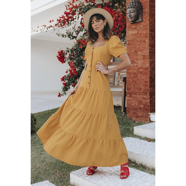 Vestido Mirela Amarelo