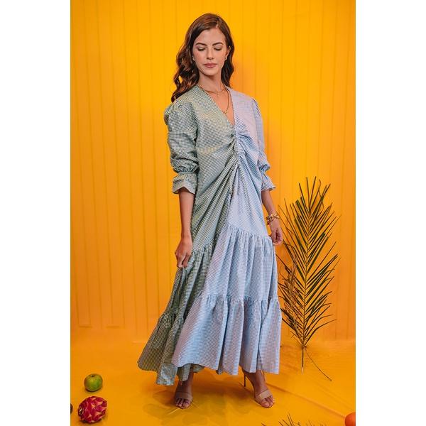 Vestido Salgunamu Xadrez