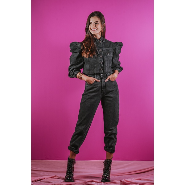 Calça mom black alcance jeans