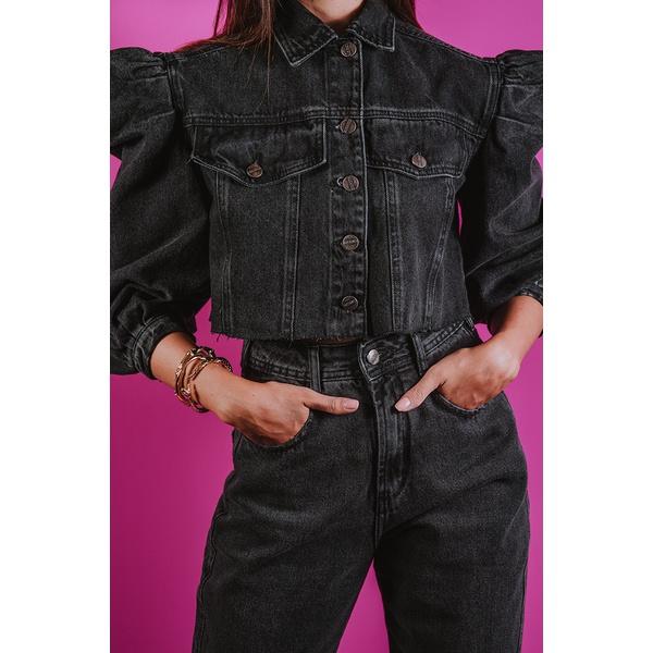 Jaqueta Alcance Jeans Cropped Black