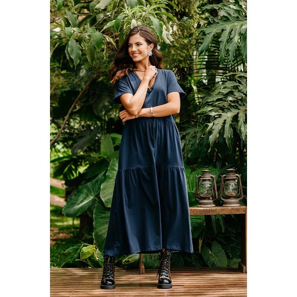 Vestido Blessed Kalyana Azul Marinho